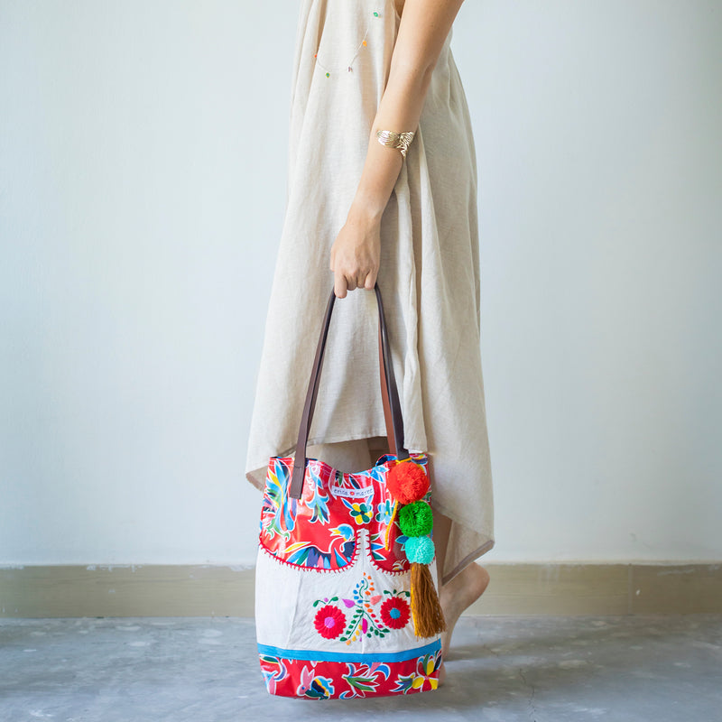 mexican tablecloth handbag
