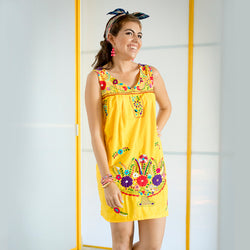 Yellow Mini Mexican Dress