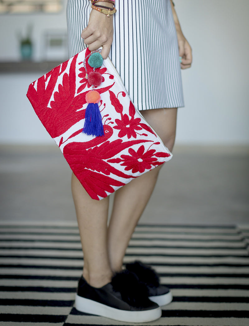 Otomi big womens clutch