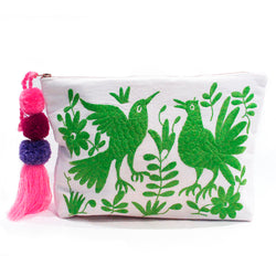 Otomi embroidered clutch