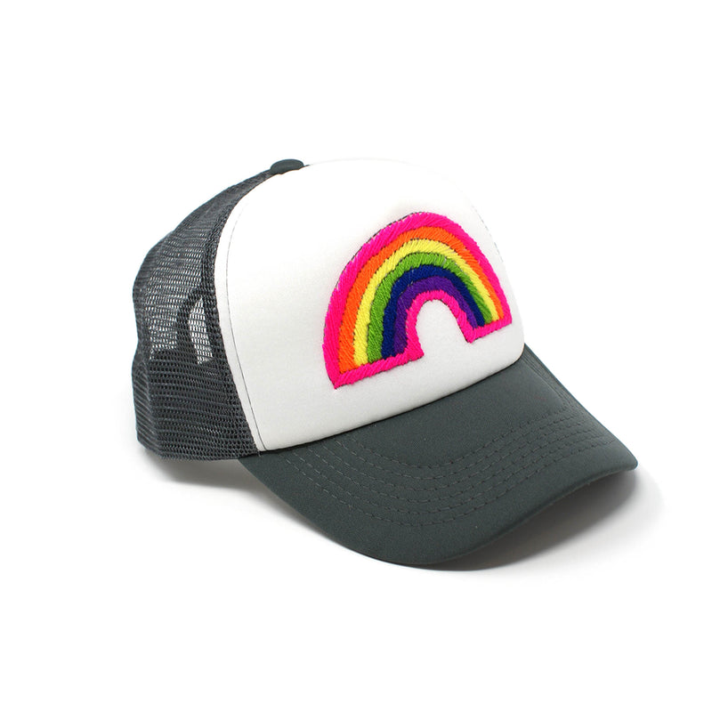 Rainbow Embroidered Trucker Hat