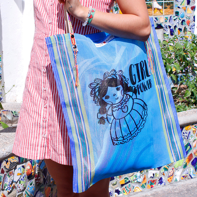 Mexican Shoulder Bag in blue