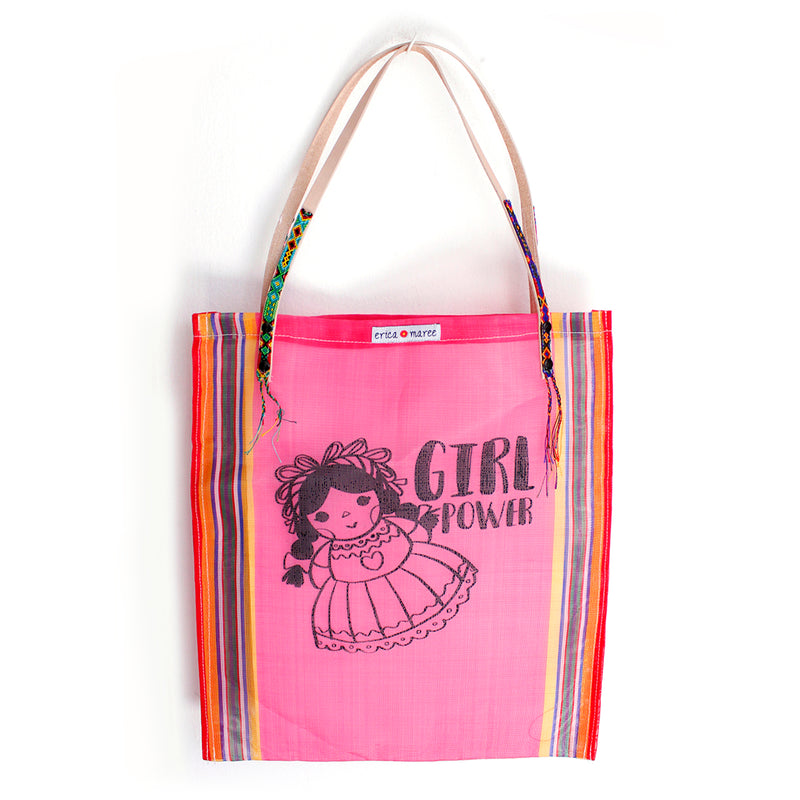 Mexican Shoulder Bag Lupita in pink
