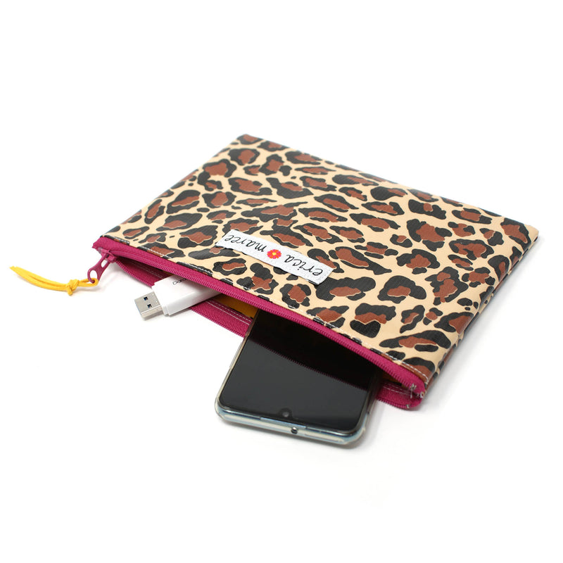 oilcloth wallet cheetah