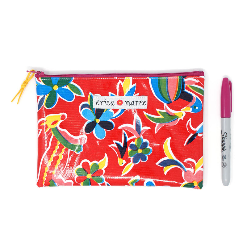 Oilcloth Medium Wallet Mexicana