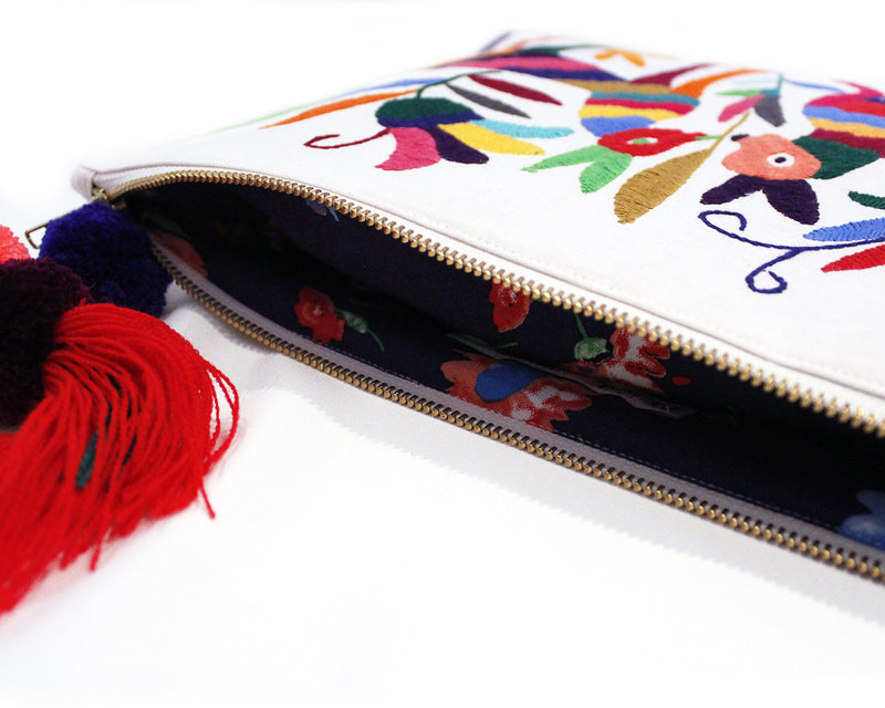 Embroidered handbag
