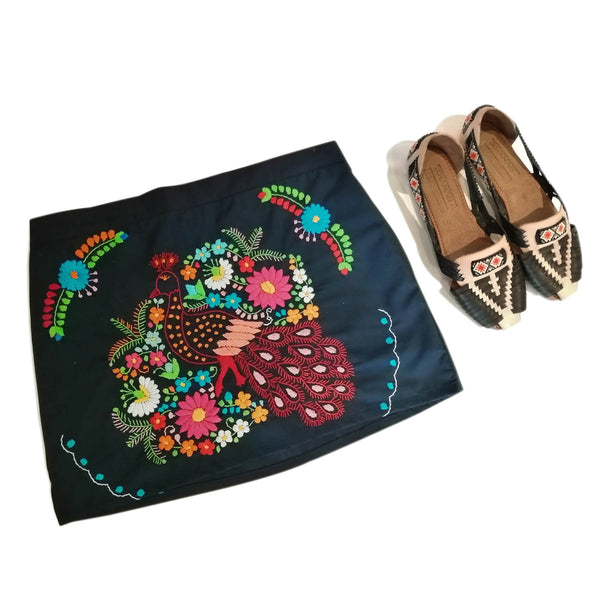 embroidered mexican skirt