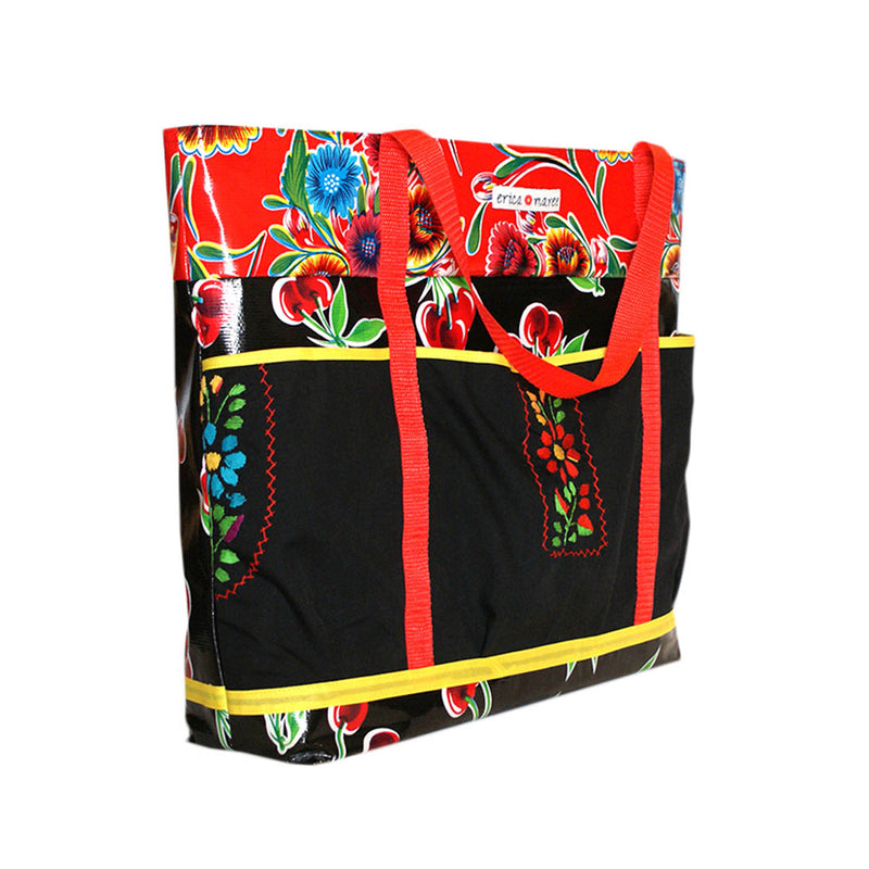 mexican oilcloth bag