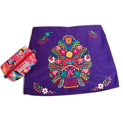 mexican handmade embroidered skirt