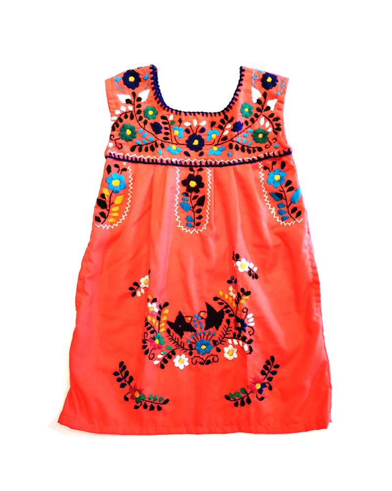 embroidered kids dress