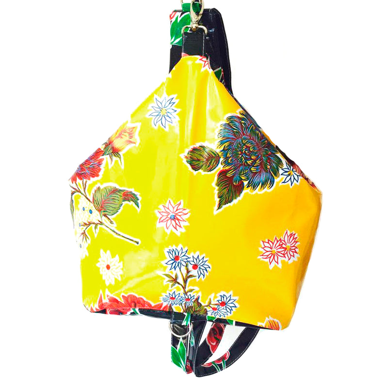 Large oilcloth school backpack