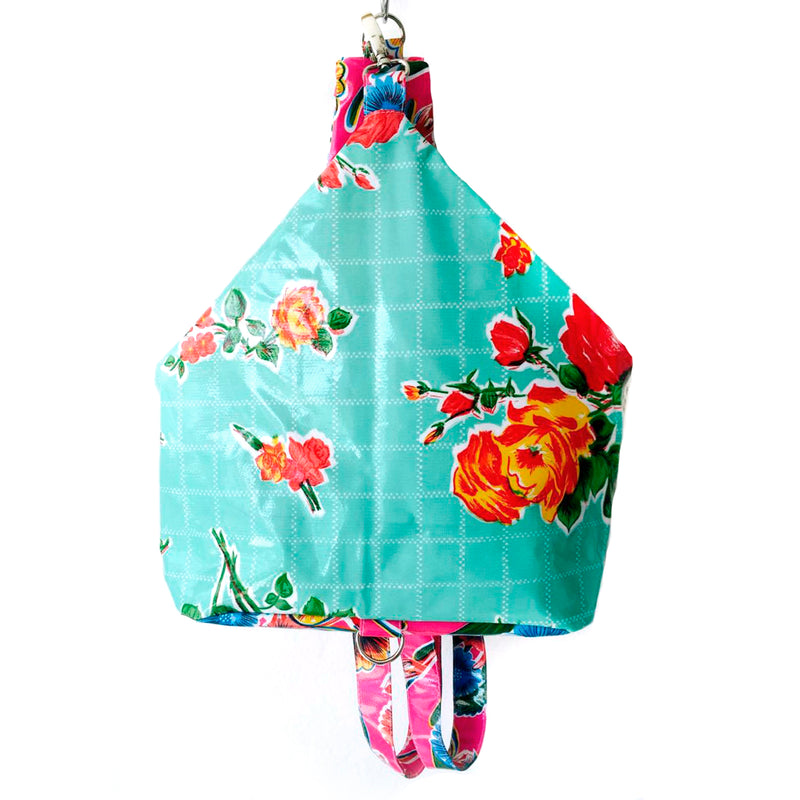 handmade oilcloth backpack