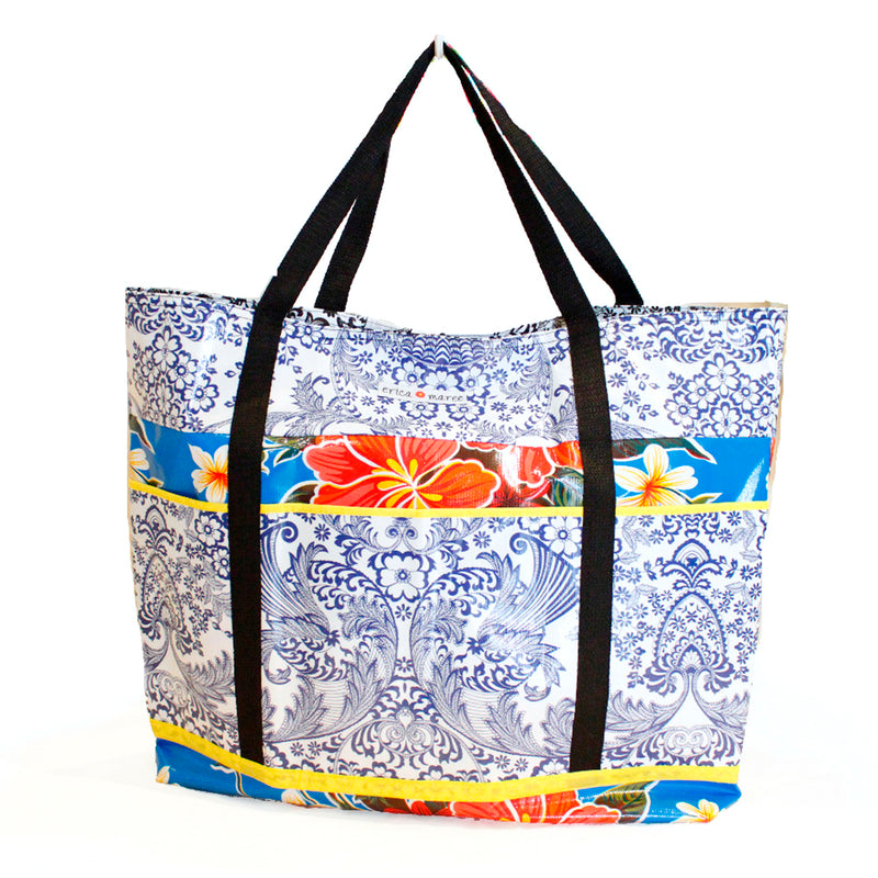 Large oilcloth pool bag
