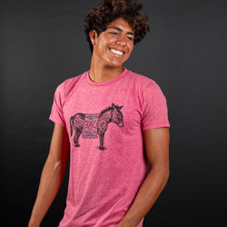 donkey shirt in red