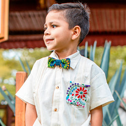kids embroidered bowtie