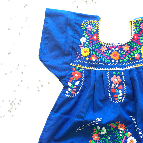 Sofia Kids Dress - Boho Blue