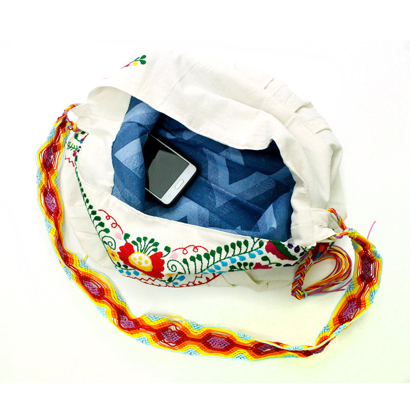 mexican embroidered shoulder bag