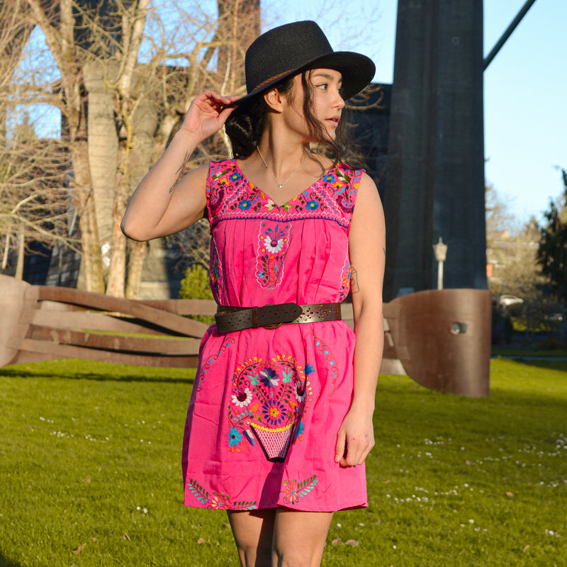 Mexican Mini Dress Pink