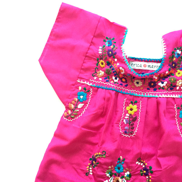 mexican kids dress in pink