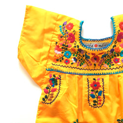 mexican kids dress in yellow