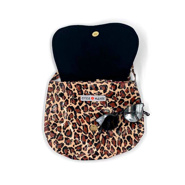 cheetah oilcloth bag