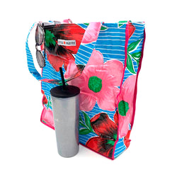 mexican oilcloth beach bag