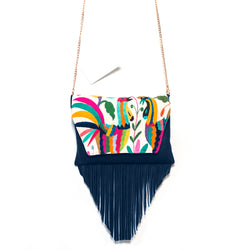 Xoco Otomi Leather Bag Blue
