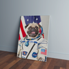 Custom Astronaut Portrait Canvas - Funny Labrador Cute Shirt Labradors Labs