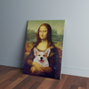 Custom Mona Lisa Portrait Canvas - Funny Labrador Cute Shirt Labradors Labs