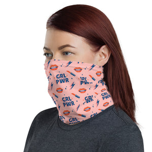 GRL PWR Girl Power Neck Gaiter - Funny Labrador Cute Shirt Labradors Labs