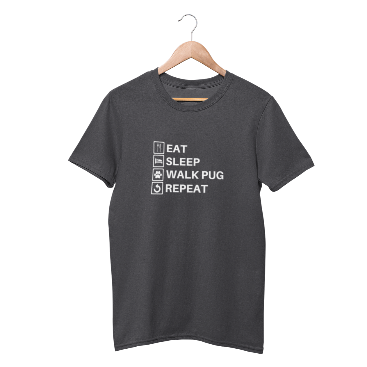 Eat, Sleep, Walk Pug & Repeat Shirt - Funny Labrador Cute Shirt Labradors Labs