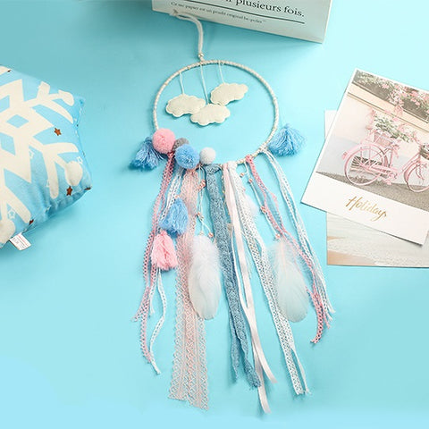 Dream catcher, cu nori, confectionat manual
