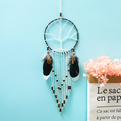 Decoratiune interioara, dream catcher, confectionat manual