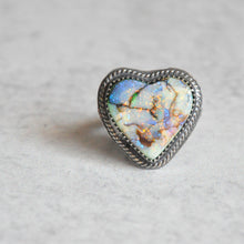 Load image into Gallery viewer, Monarch Opal Heart Ring No.1 • Size 6 US