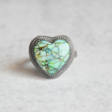 Load image into Gallery viewer, Monarch Opal Heart Ring No.2 • Size 8 US