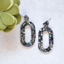 Load image into Gallery viewer, Arch Earrings - Black