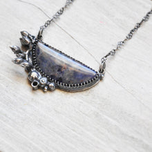 Load image into Gallery viewer, Sodalite + Botanical Pendant