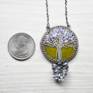 Glass Tree Pendant