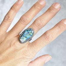 Load image into Gallery viewer, Monarch Opal Coffin Statement Ring • Size 6 US