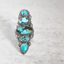 Load image into Gallery viewer, Statement Mixed Turquoise Ring • Size 7.25 US