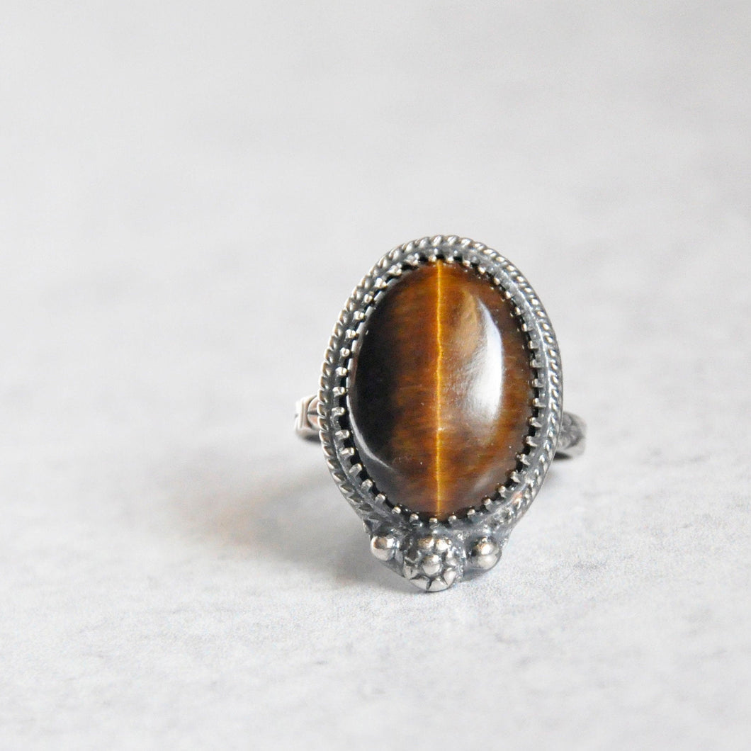 Tigereye Everday Ring No. 2 • Size 8.5 US