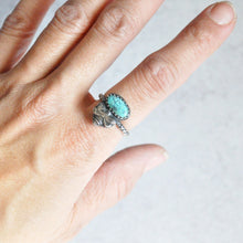 Load image into Gallery viewer, Turquoise + Bee Ring • Size 6.5 US