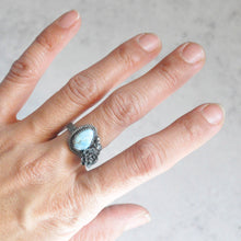 Load image into Gallery viewer, Lavender Kazakhstan Turquoise + Succulent Bloom Ring No. 5 • Size 7 US