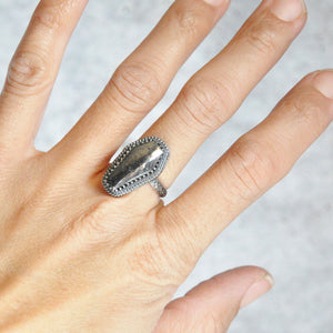 Native Silver Coffin Ring • Size 6 US