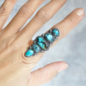 Statement Mixed Turquoise Ring • Size 7.25 US