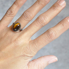 Load image into Gallery viewer, Tigereye Everday Ring No. 1 • Size 5.5 US