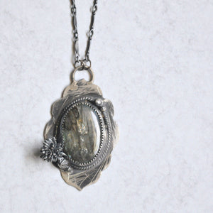 Labradorite Scroll Pendant