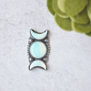 *Made to Order*  Luna Ring - Snow White No.2