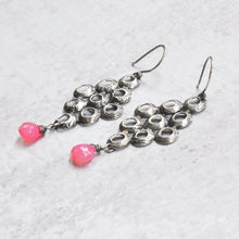 Load image into Gallery viewer, Pink Chalcedony Earrings