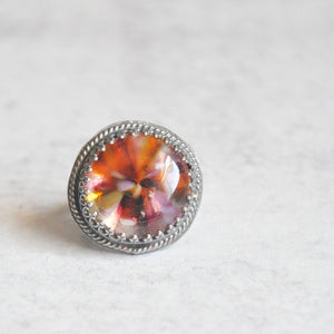 Pink Glass Implosion Ring • Size 6 US